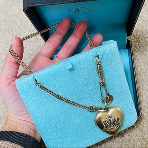Juicy Couture Jewelry - Juicy Couture Chunky Gold Heart Locket Necklace